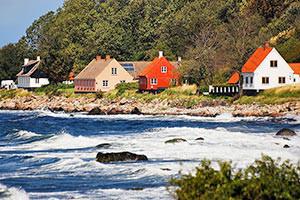 Häuser auf Bornholm
